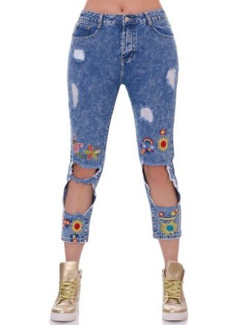Pantaloni jeans mom fit